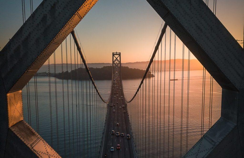 Oakland Bay Bridge near Milken financial innovation lab convening