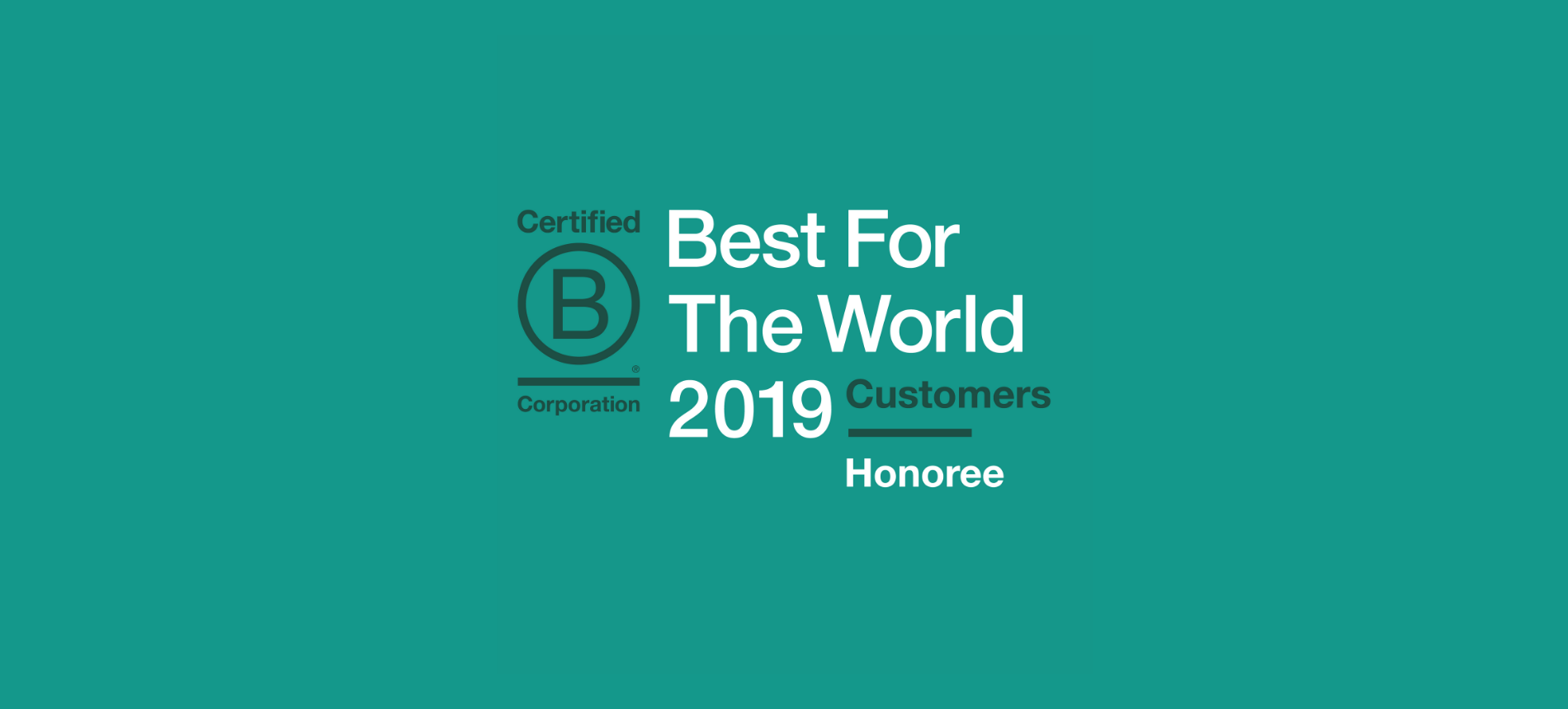 2019 B Corp Best for the World customers honoree