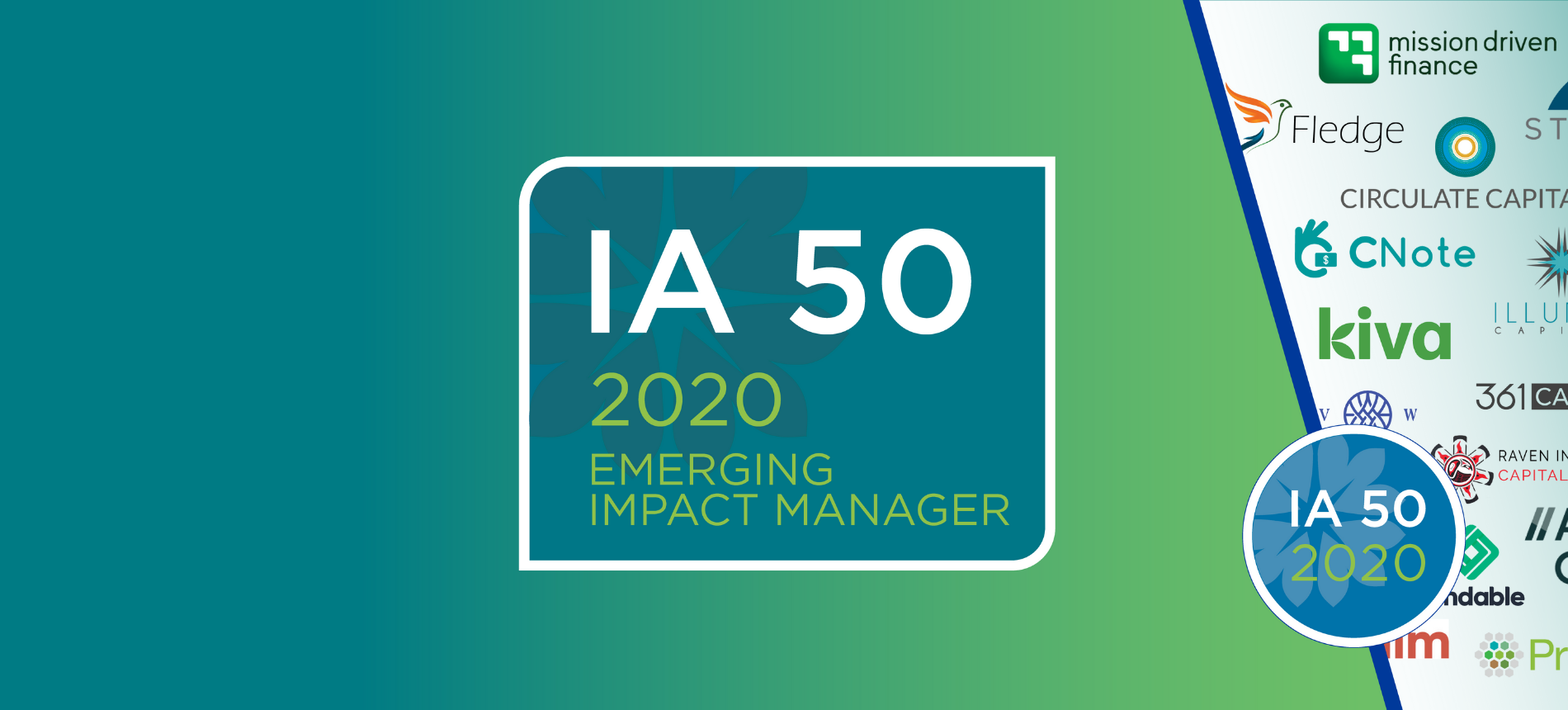 Mission Driven Finance selected as an ImpactAssets 50 2020 Emerging Impact Manager