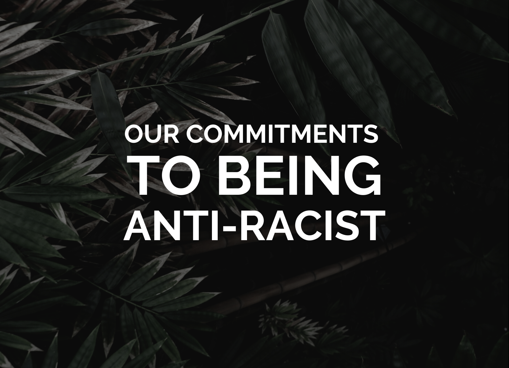 Our commitments to being anti-racist