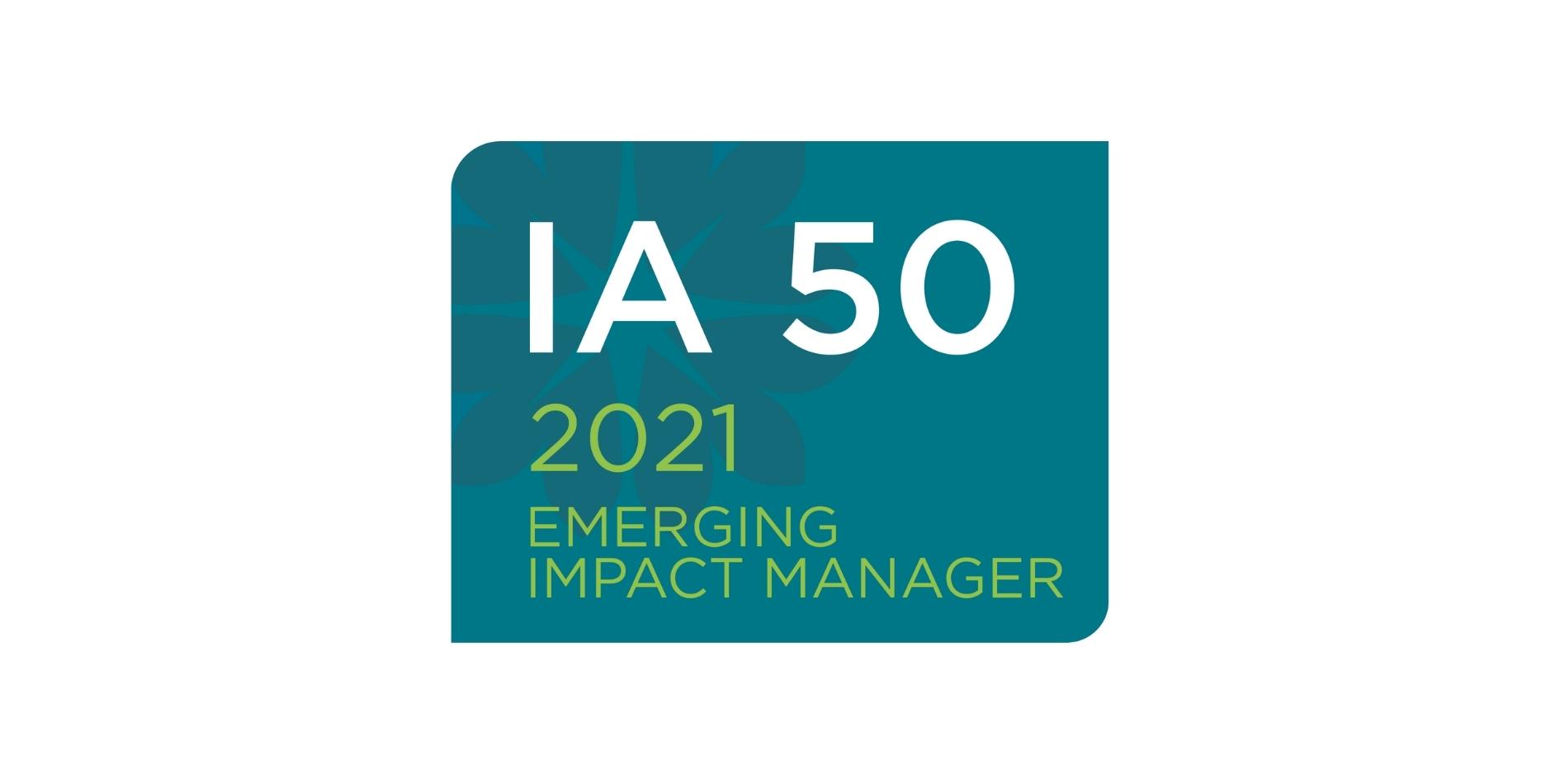 ImpactAssets IA 50 2021 emerging impact manager