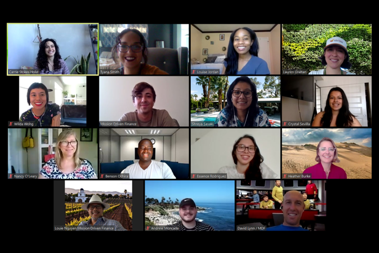 Community Finance Fellows Zoom screenshot