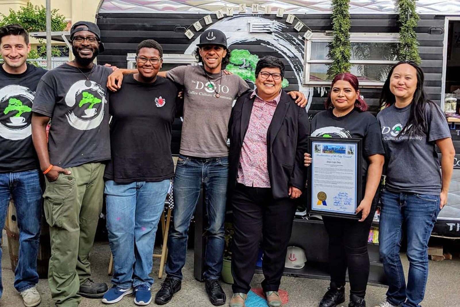 Georgette Gomez issues DOJO Cafe Day proclamation