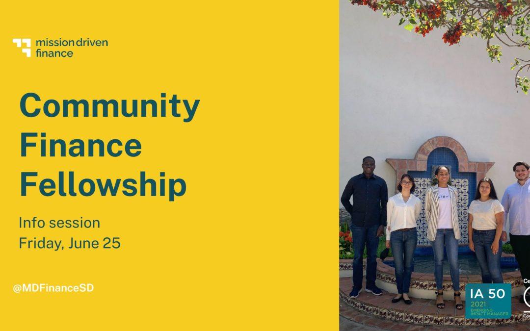 Community Finance Fellowship 2021 info session