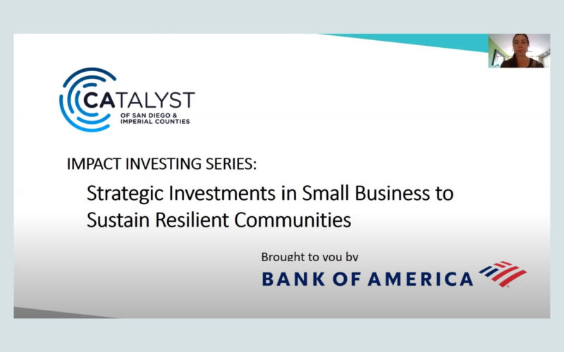 Catalyst's Impact Investing Series: Strategic investments in small businesses to sustain resilient communities
